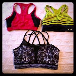 3 sports bras!